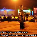 Dubai belly dance on desert