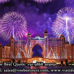 Palm hotel fireworks in dubai